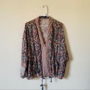 Free People XS/S Kimono Zip Up